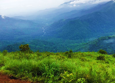Neelimala view point at Wayanad district in Kerala