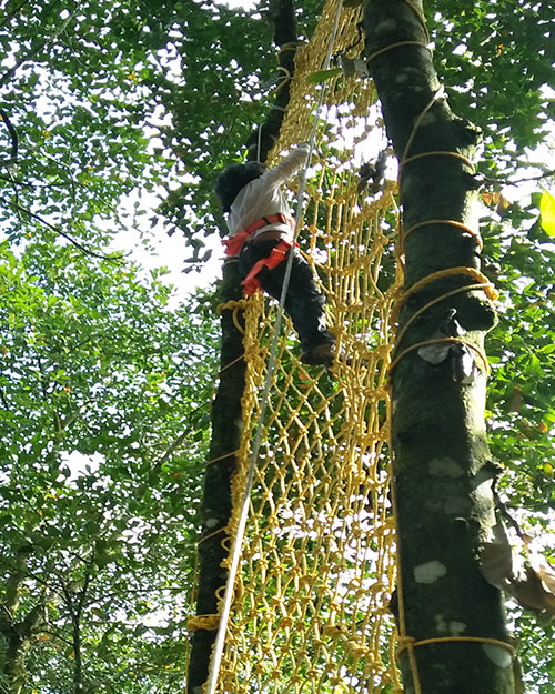 Commando net activity in Wayanad provided at our resort in wayanad with adventure activity