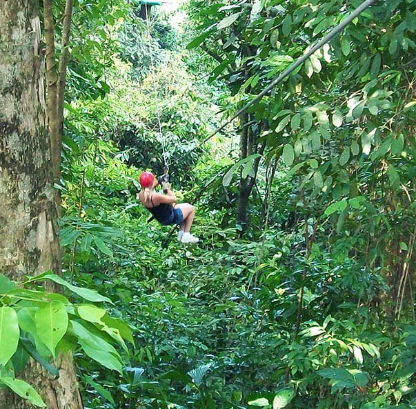 Swinging Valley Crossing adventure activity at the best adventure resort in Wayanad