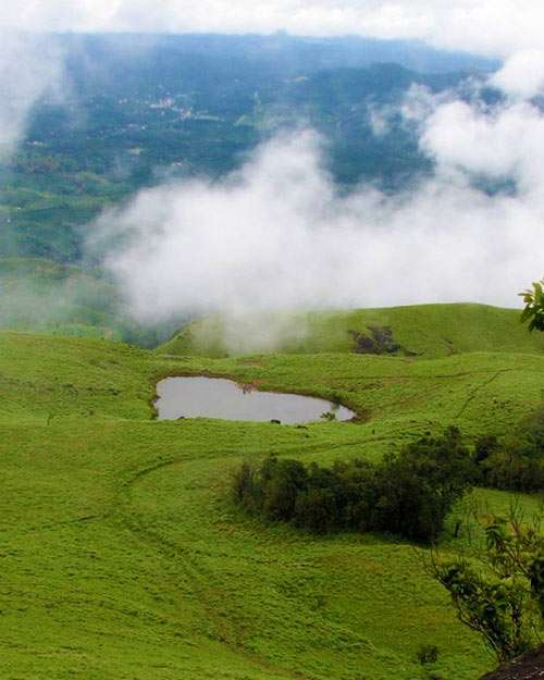 Chembra Peak view point Heart shaped lake in Wayanad Kerala