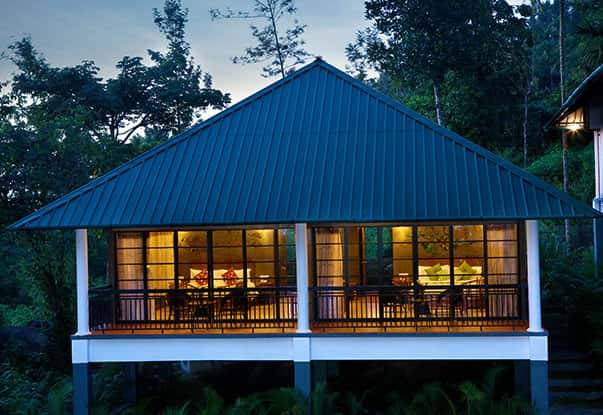 Night view of our cottages in Wayanad that offer a perfect stay amidst the plantations