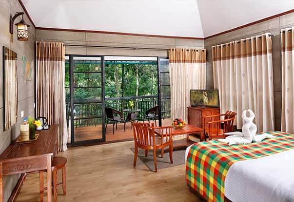 Well-furnished and Spacious Rooms in our cottages in Wayanad