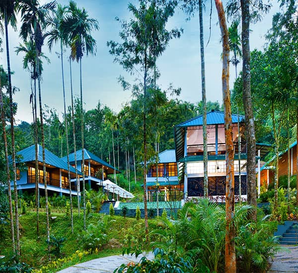 Resort inside coffee plantation in Wayanad