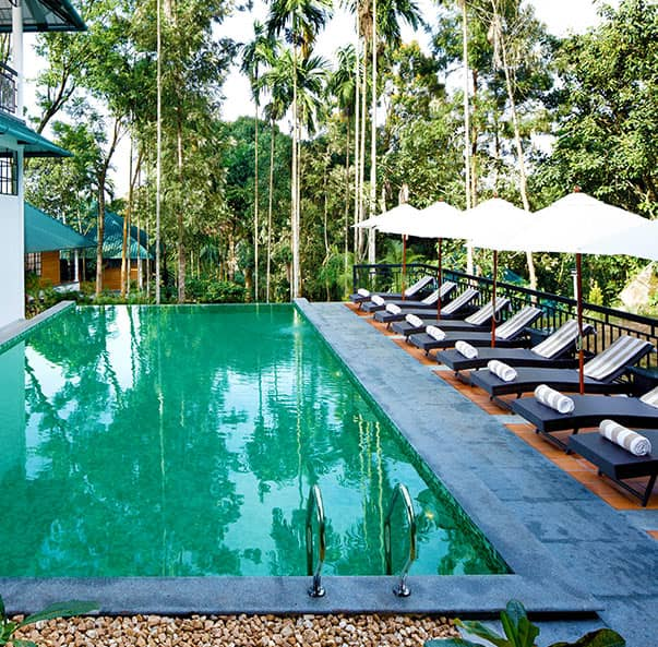 Swimming Pool at our resort in Wayanad that is apt for a leisurely dip